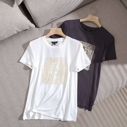 Summer Loose Printing Short Sleeve T-shirt  NSAM52418