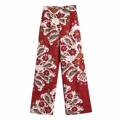 Embossed Printing Casual Straight-leg Pants NSAM52421
