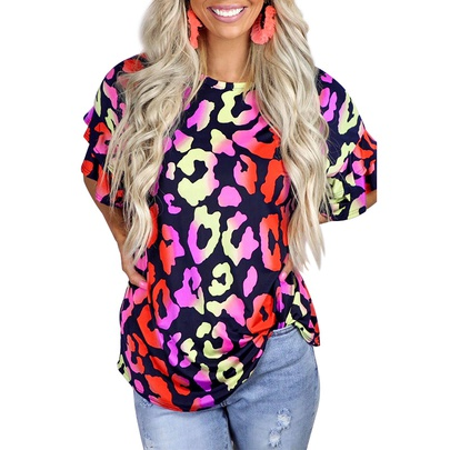 Printed Short-sleeved Round Neck Casual T-shirt  NSZH52460