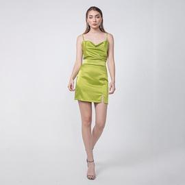 Green Sling Tight-fitting Thin Halter Short Dress NSYSB52518