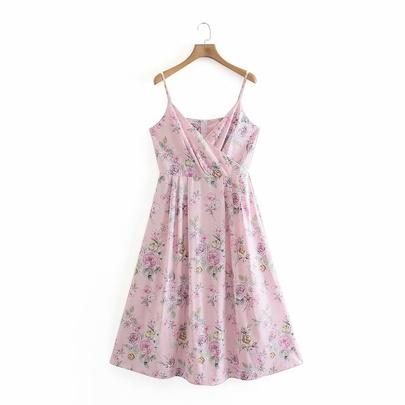 Wholesale Spring Suspender Long Dress NSAM52760