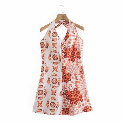 Wholesale Spring Halter Neck Off Dress  NSAM52782