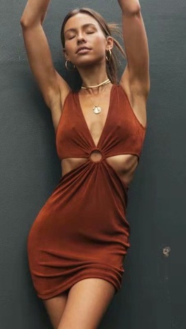 Wholesale Spring Sleeveless Ring Dress NSAM52789