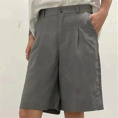 Solid Color Fashion Pockets Suit Five-points Shorts  NSAC52934