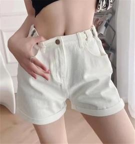 Hook High Waist Wide Leg Denim Shorts  NSHS52968