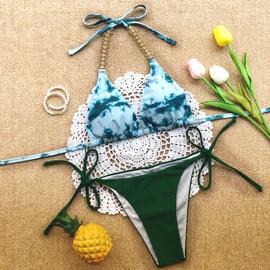Sexy Tie-dye Printed Split Bikini Swimsuit  NSLUT53575