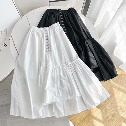 Fashion Loose High Waist Irregular A-line Skirt  NSAM53181