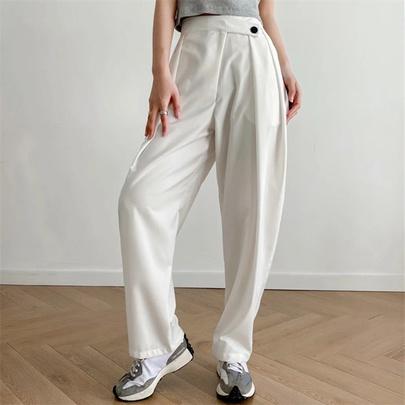 High Waist Drape Loose Thin Chiffon Casual Wide-leg Pants NSAC53221
