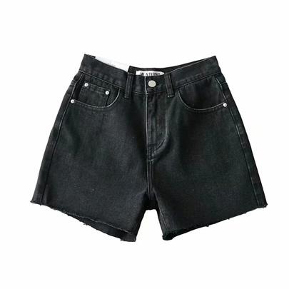 High Waist Wild Wide-leg Summer New Loose A-line Thin Hot Denim Shorts NSAC53223