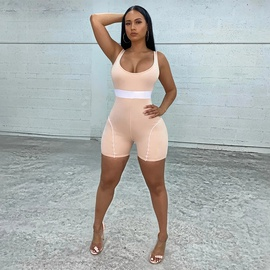 Sports Suspenders Knitted Jumpsuit NSMAN53320