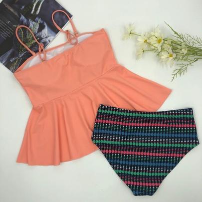 Sling Tight-fitting High-waist  Swimsuit NSLUT53939