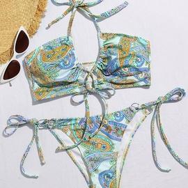 New Sexy Backless Split Lace Multicolor Bikini  NSDYS53988