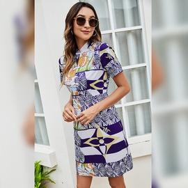 Sexy Summer New Style Short-sleeved Hedging Short Skirt  NSLM54043