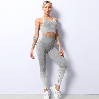 Hot-selling New Seamless Knitted Hip Yoga Set NSZJZ54069