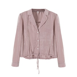 New Fashion Wholesale Spring Home Casual Drawstring Blouse NSAM54107