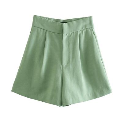 Wholesale New Fashion High Waist Slim Linen Casual Shorts NSAM54118