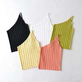 Wholesale New Oblique Shoulder Knitted Sling Top NSAM54123