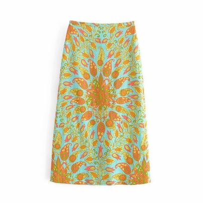New Fashion Wholesale Spring Print Hip Skirt NSAM54124