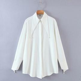 New Fashion Wholesale Spring Lapel White Shirt Top  NSAM54126