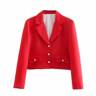 Wholesale New Buttoned Short Casual Suit Jacket NSAM54272