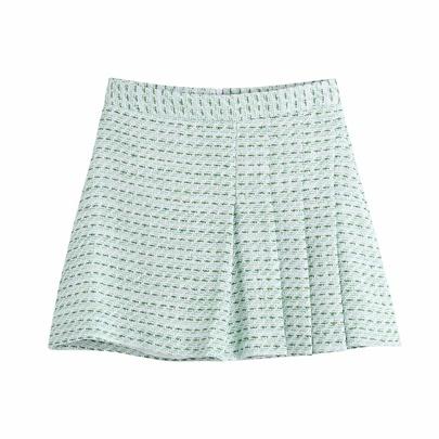 Casual High Waist Texture Pleated Skirt  NSAM54273