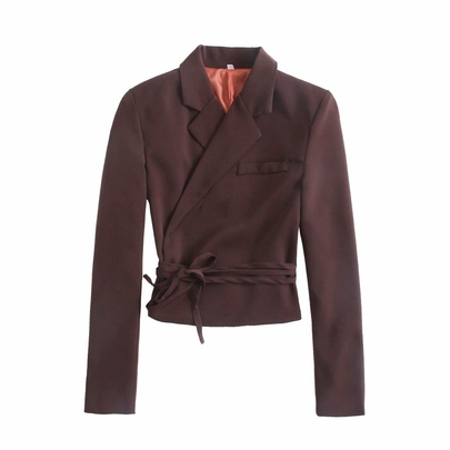 Wholesale New Fashion Lace-up Double-breasted Short Suit Jacket NSAM54285