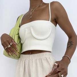 Fashion Sexy Solid Color Short Camisole  NSHAO53740