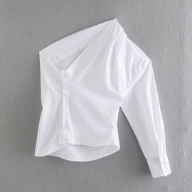 Spring New Poplin White Shirt  NSAM47577