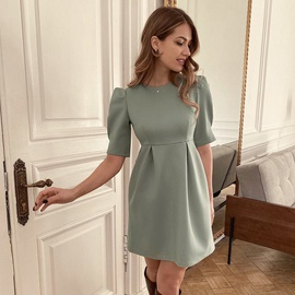 Summer New High Waist Short Sleeve Dress NSYSB47837