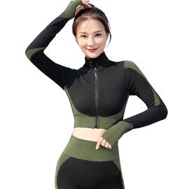 Color-block Sports Sweatshirt & Leggings NSOUX47906