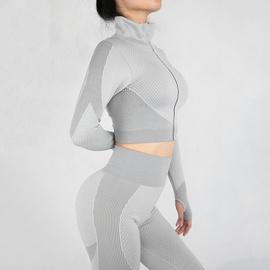 Mesh Zip High Collar Sweatshirt & Legging NSOUX47921