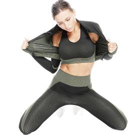 Seamless 3pcs Sports Bra & Sports Jacket & Sports Leggings NSOUX47930