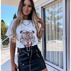 summer new casual short-sleeved printed T-shirt NSYF47981