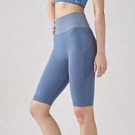 Seamless Wide Waistband Sports Shorts NSOUX48139