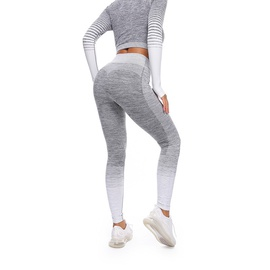 Striped Spliced Sports Leggings NSOUX48141
