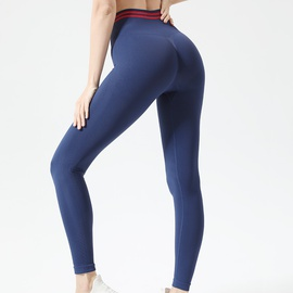 Seamless Wide Band Waist Sports Leggings NSOUX48170