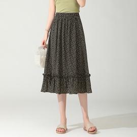 Loose Fashion High Waist Floral Skirt NSYZ48182