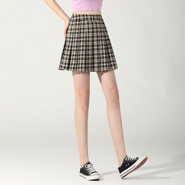 High Waist Pleated Short Skirt NSYZ48185