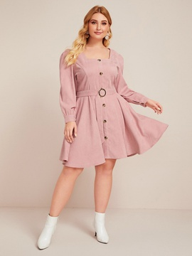 New Plus Size Long Sleeve Dress NSCX48192