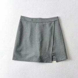 Solid Color Side Splits Bag Hip Skirt NSHS48228