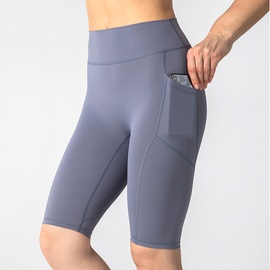 Splicing Pocket Plain Sport Shorts NSJO48327