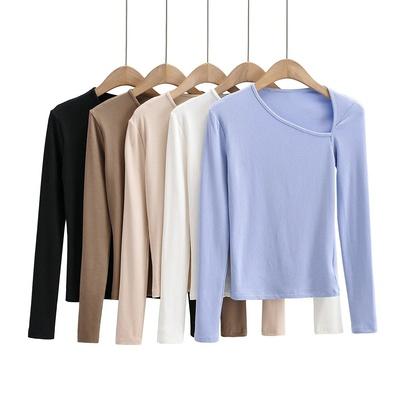 Sexy Irregular Stretch Long-sleeved T-shirt NSHS48522