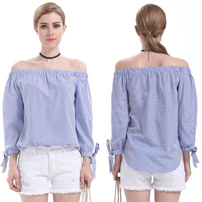 Summer New Fashion Loose Blue Blouse NSJR48624