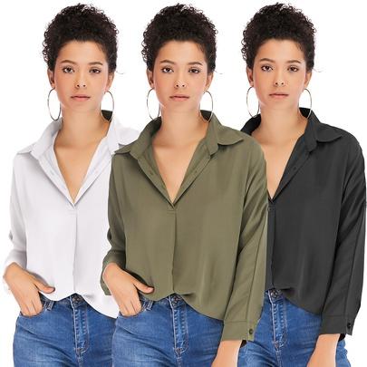 New Slim Loose Casual Long-sleeved Shirt NSJR48625