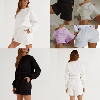 Loose New Comfortable Breathable Pure Color Hot Sale Shorts NSYKD55696