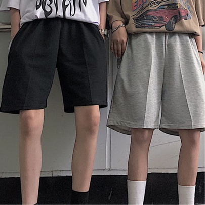 Loose Hot Sale Pure Color Loose Fashion Comfortable Shorts NSYKD55697