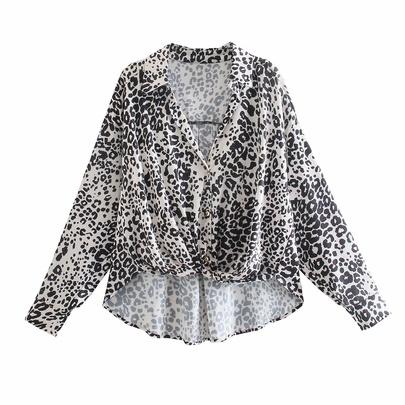 Fashion Slim Leopard Printed Shirt NSAM55741