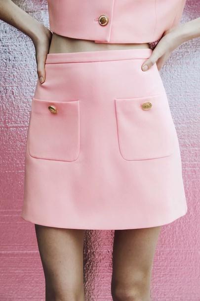 Wholesale Summer New Fashion All-match High Waist Patch Pockets Skirt NSAM55746