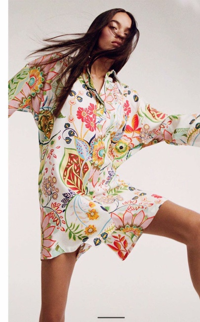 Wholesale Spring Print Shirt Style Jumpsuit  NSAM55778