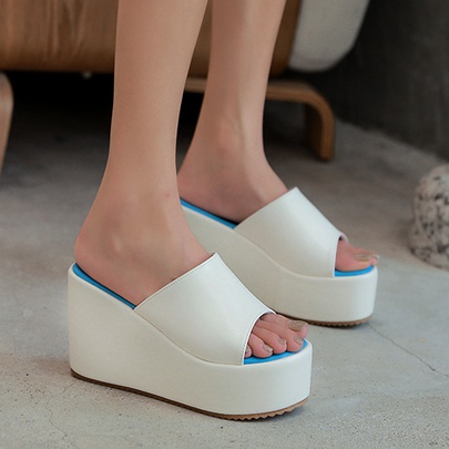 Fashion Thick Bottom Waterproof Platform Wedges NSCA55918